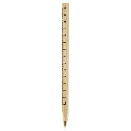 Bolígrafo con regla Woodave