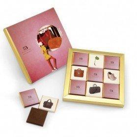Pack de 9 napolitanas de chocolate