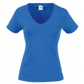 Camiseta Fruit of the Loom cuello de pico mujer