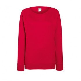 Sudadera Fruit of the Loom Lightweight Raglan Mujer