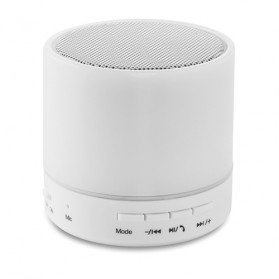 Altavoz circular Bluetooth LED Round White