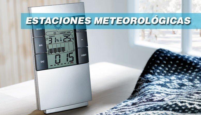 Estaciones meteorológicas y relojes de sobremesa